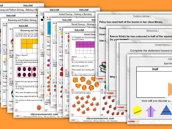Year 1/2 Mixed Age Spring Block 2 Step 3 Maths Lesson Pack