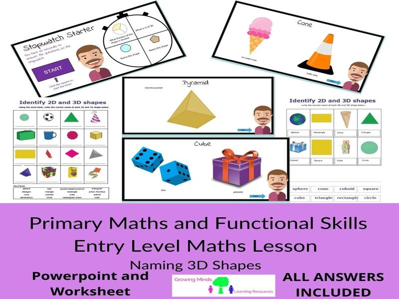 Primary Maths-3D Shapes Lesson