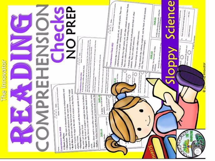 Reading Comprehension Checks – Sloppy Science-2