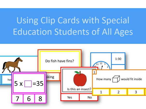 How To Use Clip Cards with Special Education Students Video