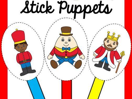 Humpty Dumpty Stick Puppets