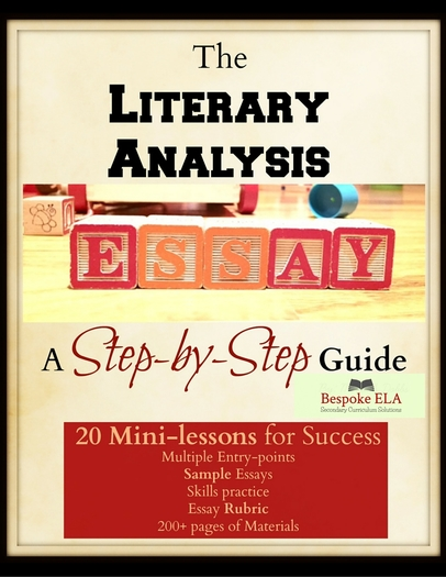 bespoke ela teaching resources tes mega bundle the literary analysis essay guide in 20 mini lessons