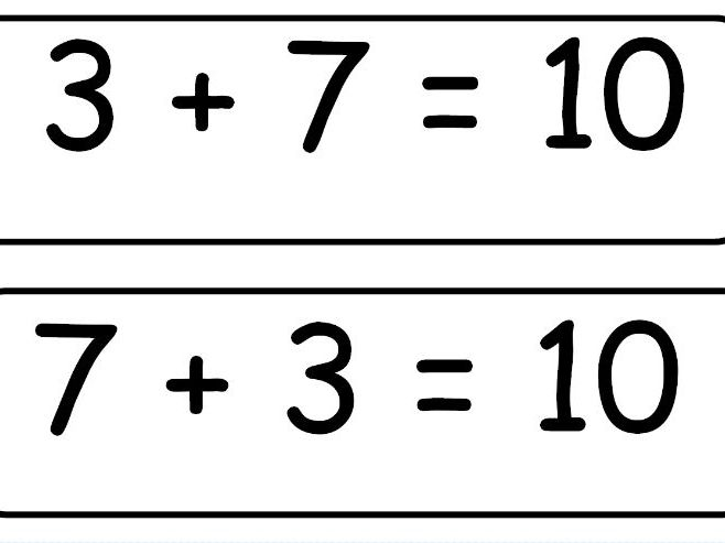 Number Bonds to 10 Display Cards