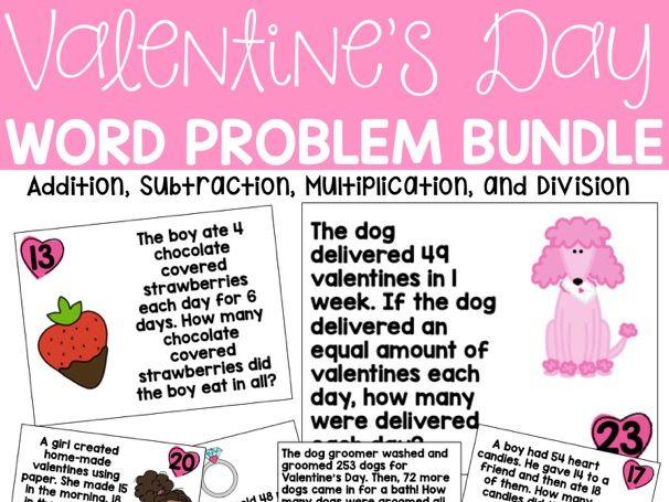 VALENTINE'S DAY WORD PROBLEM BUNDLE