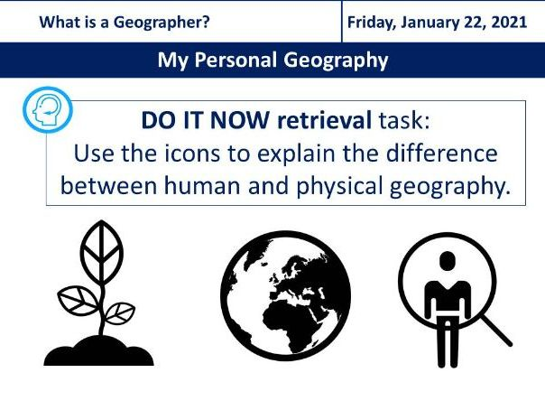 Key Stage 3 KS3. Introduction to Geography, My Personal Geography