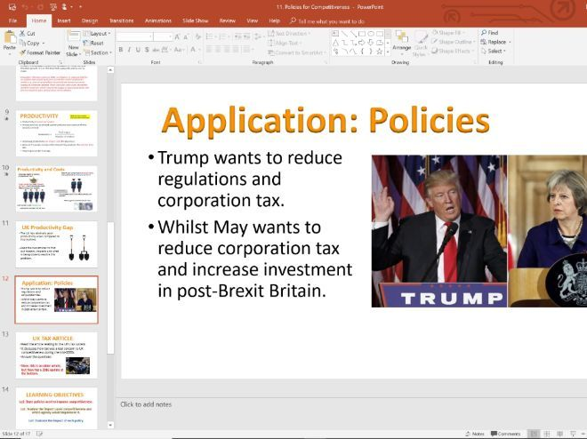 11. Competitiveness Policies (Slides, Activities and Notes) - Edexcel A-Level Economics - Theme 4