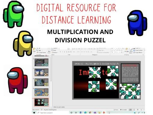 Among Us - Multiplication and Division (2-9) Electronic Puzzle