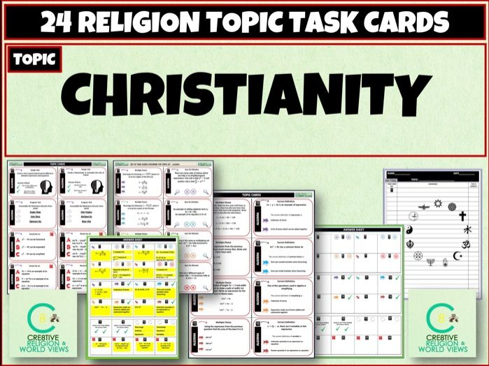 Christianity Task Cards