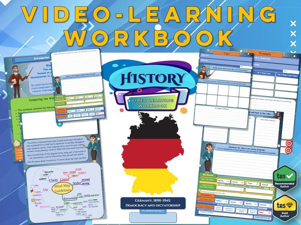 Germany, 1890 - 1945 Democracy and Dictatorship - Workbook [ GCSE History: Video Learning Workbook ]