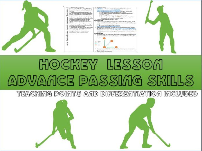 Hockey lesson plans - Advanced passing skills (flick and reverse passes)