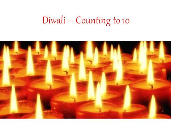 Diwali - Counting to 10 - PowerPoint and Teaching Display Materials + Diwali mandala colouring book
