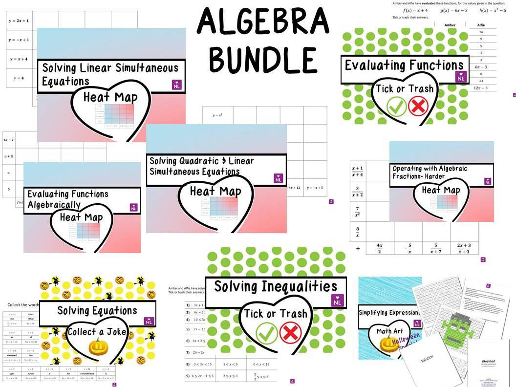 Algebra Activities Pack