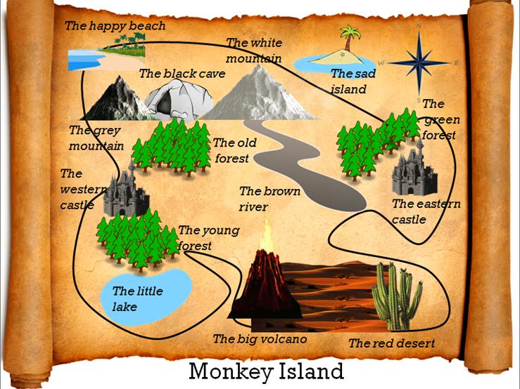 ESL Pirate Treasure Map