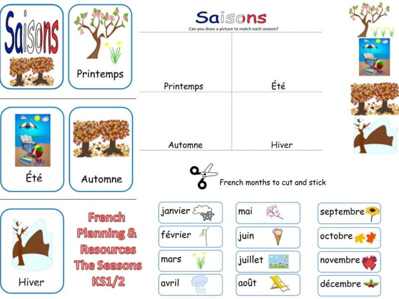 french seasons lesson and resources ks1 2 by mrspomme teaching resources. Black Bedroom Furniture Sets. Home Design Ideas