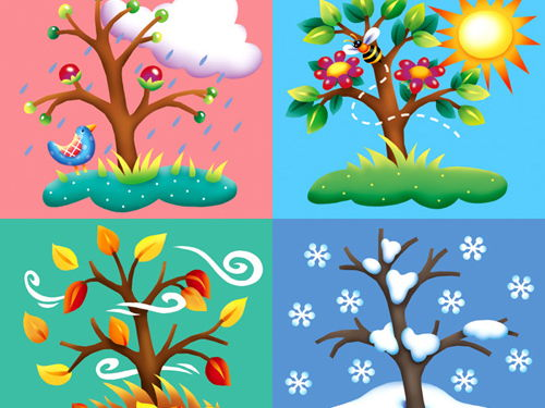 Les saisons - seasons, months, weather and activities.