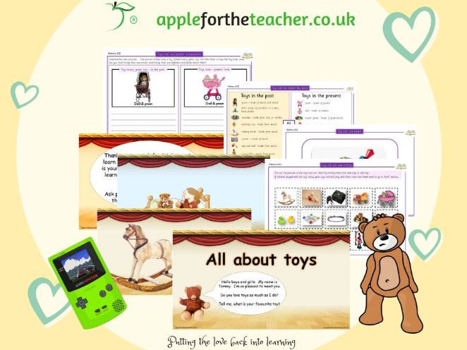 Toys Past and Present Year 1 History - All About Toys (Full Lesson Bundle)