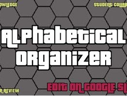 Digital Alphabetical Organizer (Editable Google Slides)
