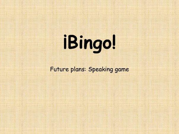 Spanish GCSE: Future Plans Speaking Game (Bingo!)