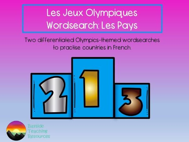 Jeux Olympiques wordsearch: countries