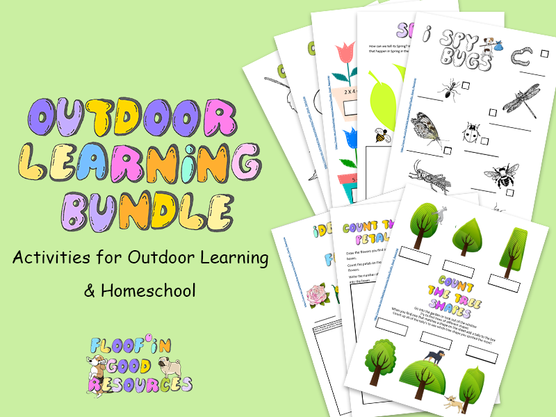 Outdoor Learning Bundle - Home School - 8 Resources