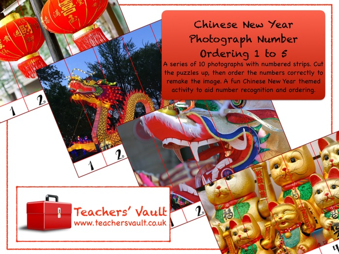 Chinese New Year Photograph Number Ordering 1 to 5