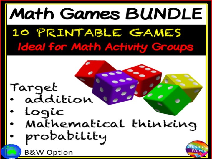 Printable Math Games for Primary Maths Centres