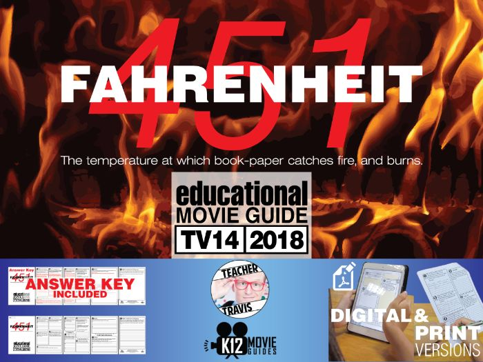Fahrenheit 451 Movie Guide | Questions | Worksheet (TV14 - 2018)