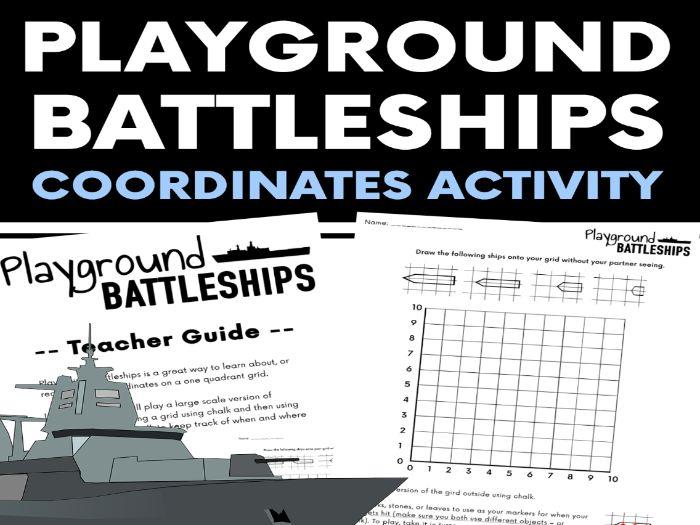 Playground Battleships - Outdoor Coordinate Lesson