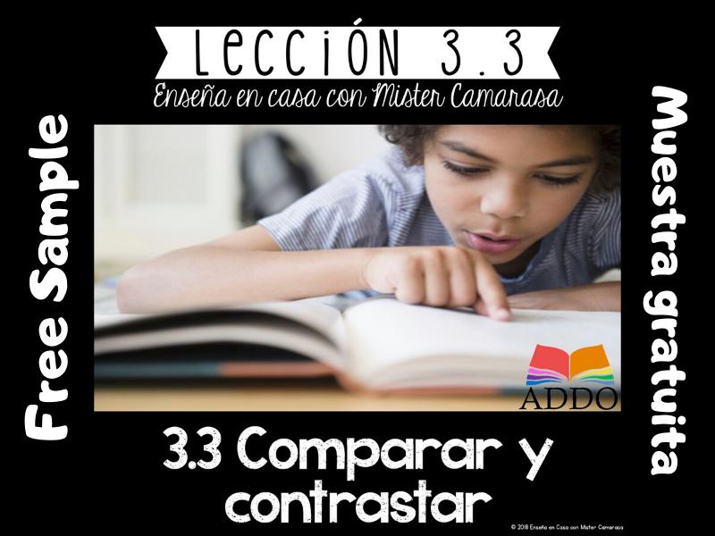COMPARAR Y CONTRASTAR (2 textos) |COMPARE AND CONTRAST SPANISH - FREE SAMPLE