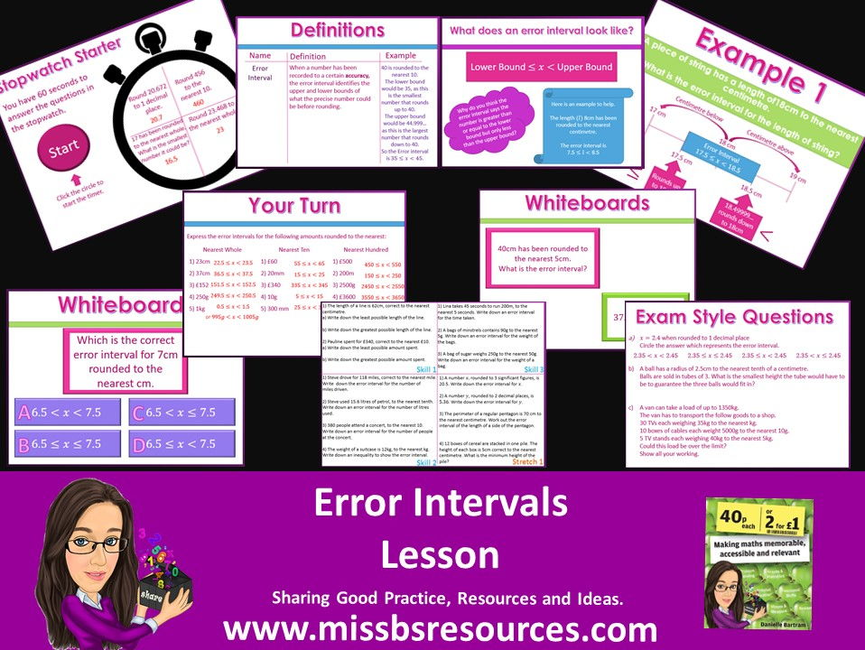 Error Intervals  Full Lesson - Starter, Quizzes, Differentiated & Exam Questions