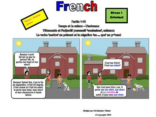 French for Adults: Beginners: Part 18: Weather: Autumn, clothes, animals, 'his/her' in French