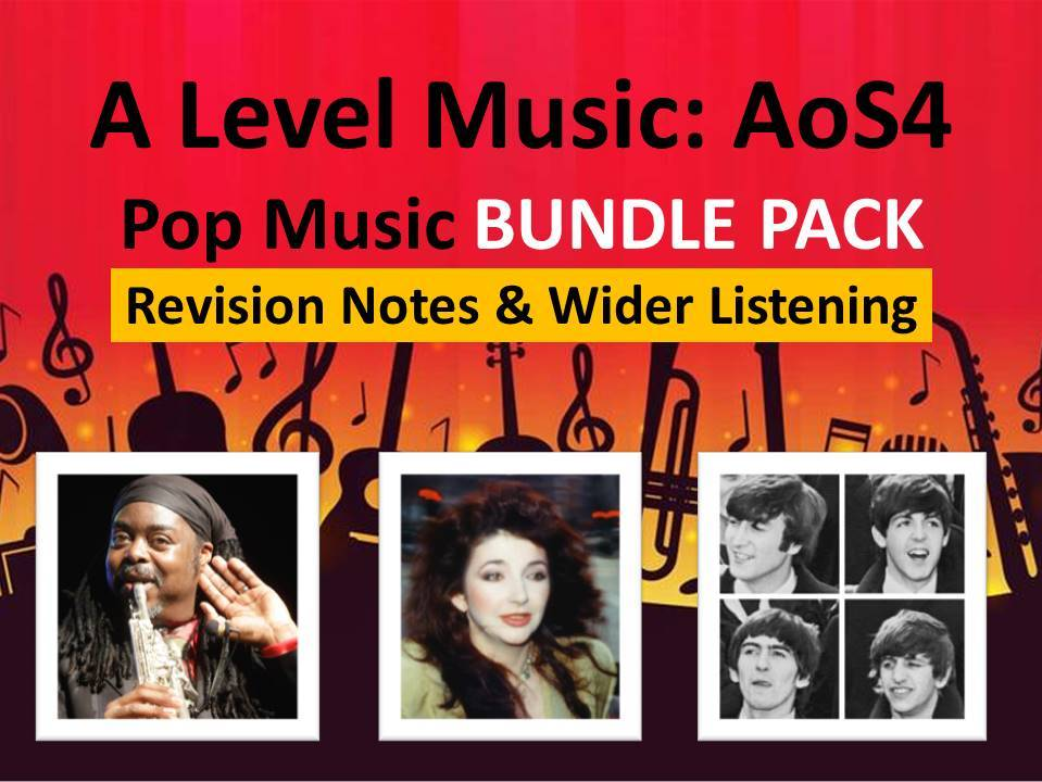 A Level Music: AoS4 Pop & Jazz Revision