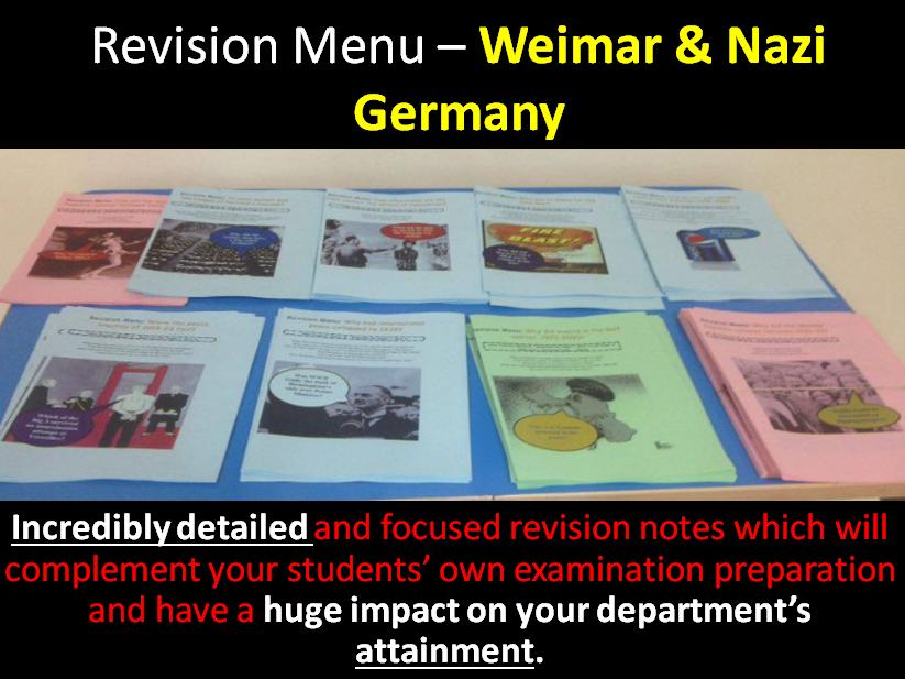 Revision Menu – Germany 1918-45
