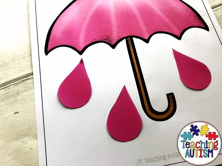 Umbrella and Raindrop Matching Colour Recognition Color Recognition