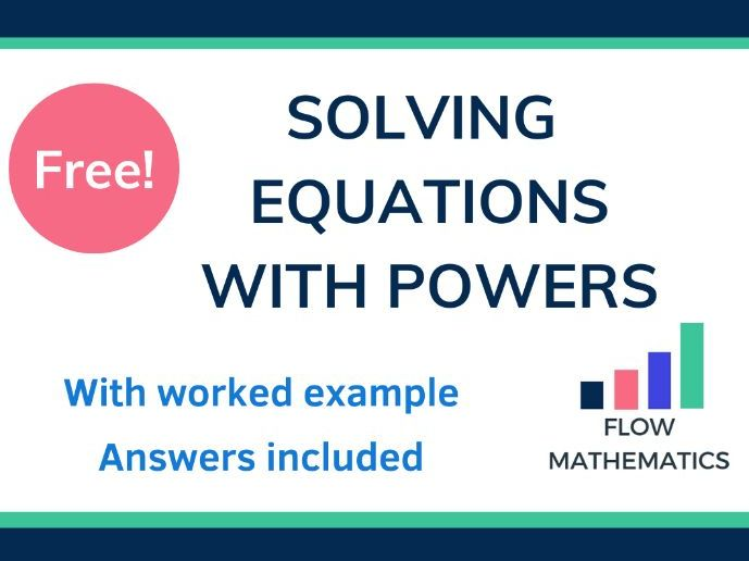 Solving equations with powers worksheet