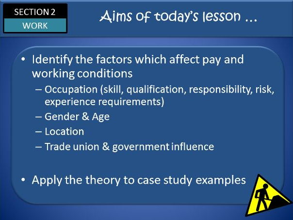 AQA GCSE Economics Unit 11 WORK Part Two