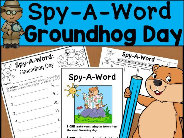 Groundhog Day Word Activity