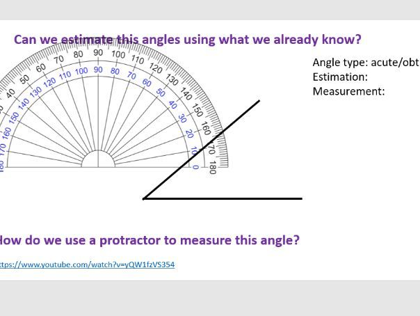 Measuring angles year 6