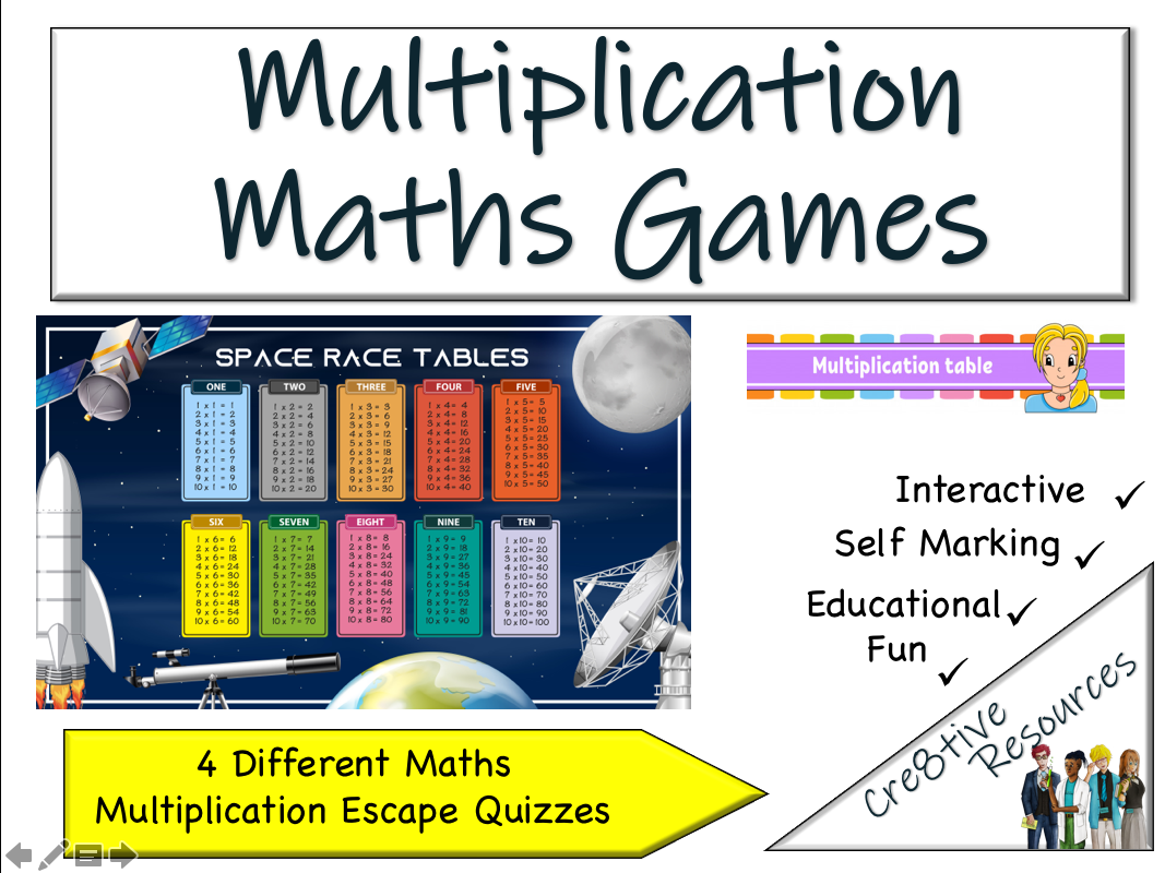 Maths Games Multiplication End of Term