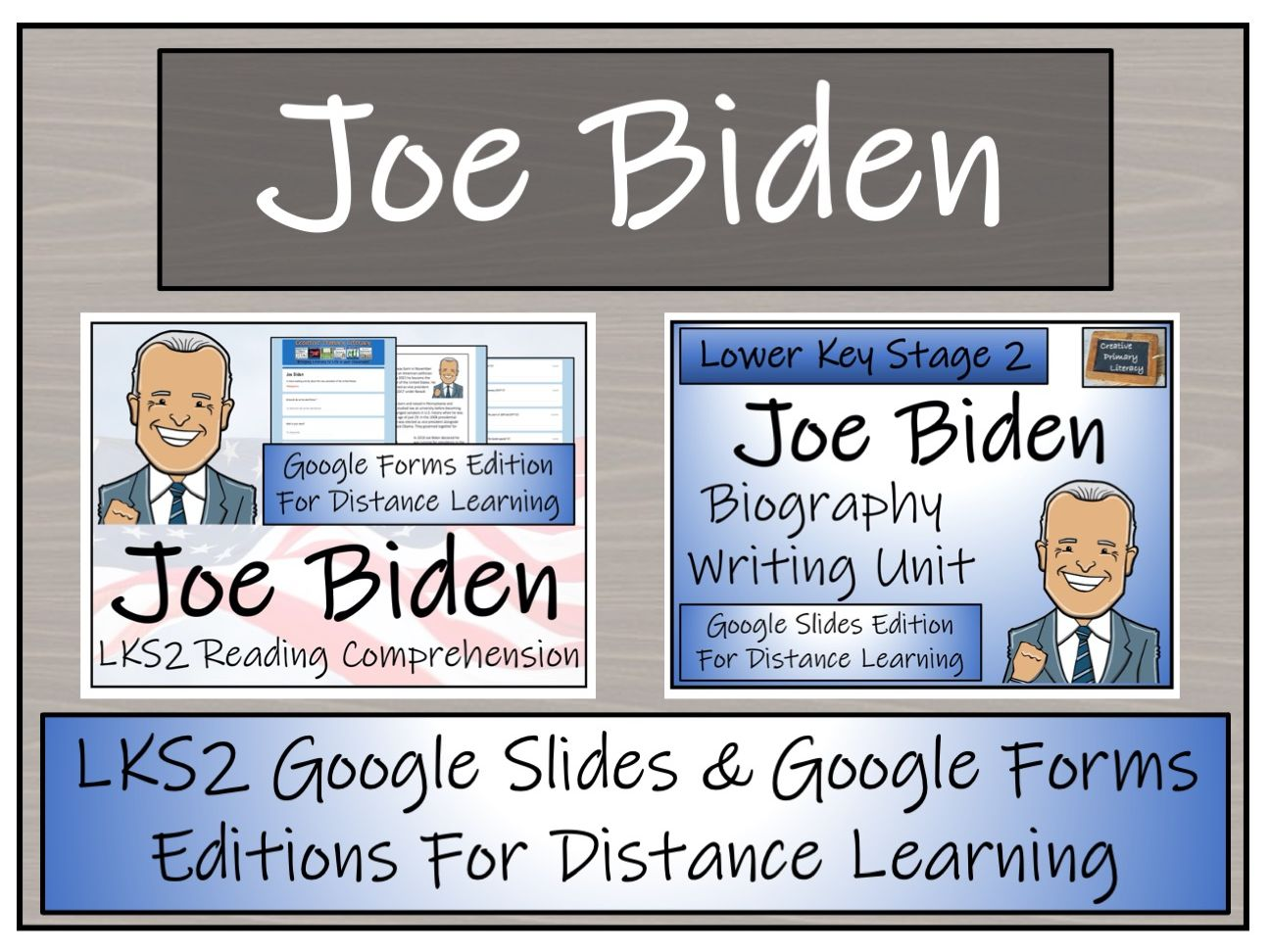 LKS2 Joe Biden Biography & Reading Comprehension Distance Learning Bundle