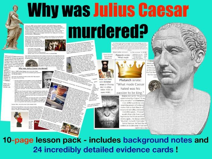 Caesar Assassination - 10 page lesson pack