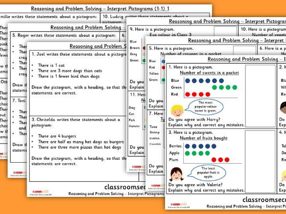 Year 2 Interpret Pictograms (1-1) WRM Spring Block 2 Reasoning and Problem Solving Pack