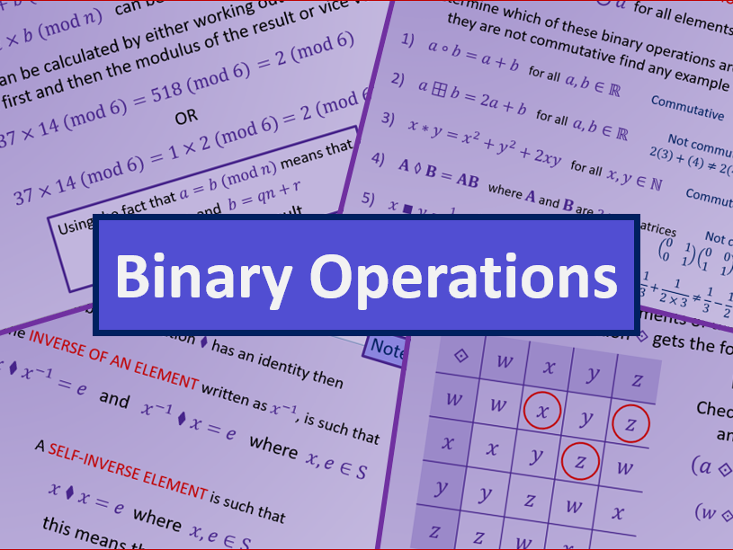 Binary Operations - AS level Further Maths Discrete