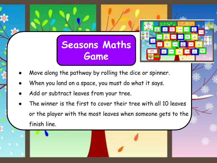 Seasons Maths Game KS1/SEN/EYFS