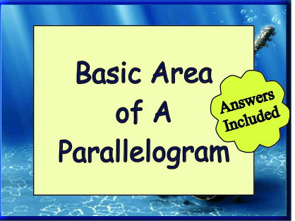 Area of a Parallelogram - with Answers