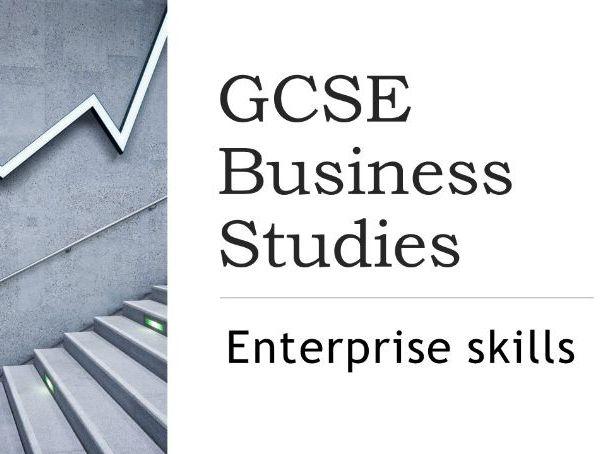 GCSE Business revision project - Enterprise skills