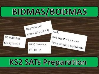 KS2 SATs BIDMAS/BODMAS