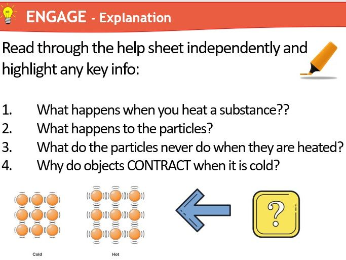 KS3 Expansion and Contraction (Physics) Science Year 7