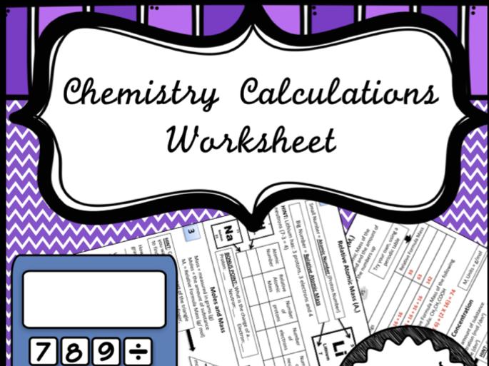 Mole Calculations Worksheet