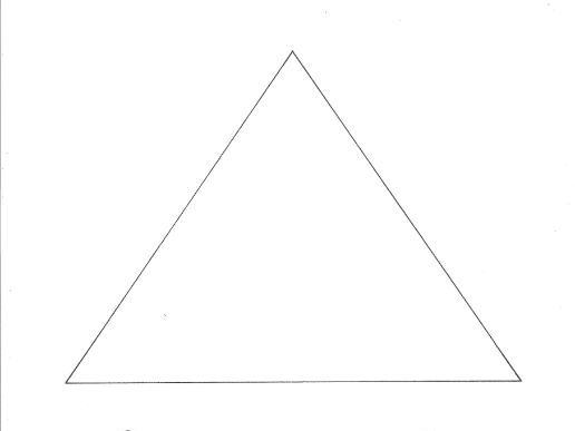 Triangle: Shapes Colouring Page